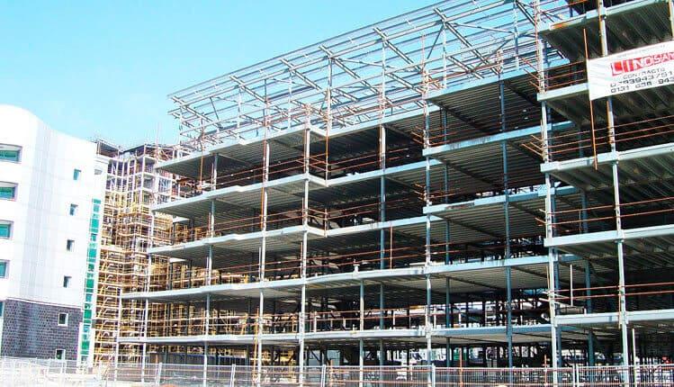 Металлические каркасы многоэтажных зданий