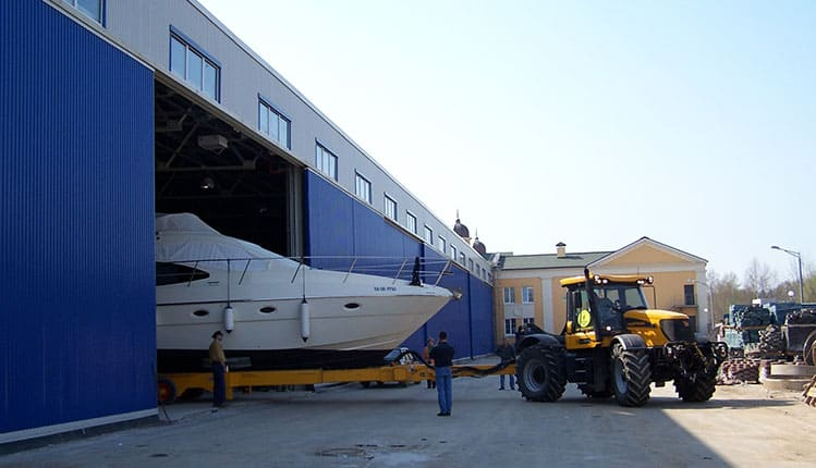 Ангары для яхт, катеров и лодок