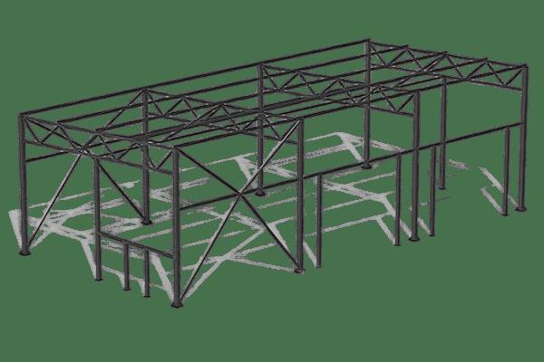 Проект здания 8,6x18 м | от 540 500 руб.